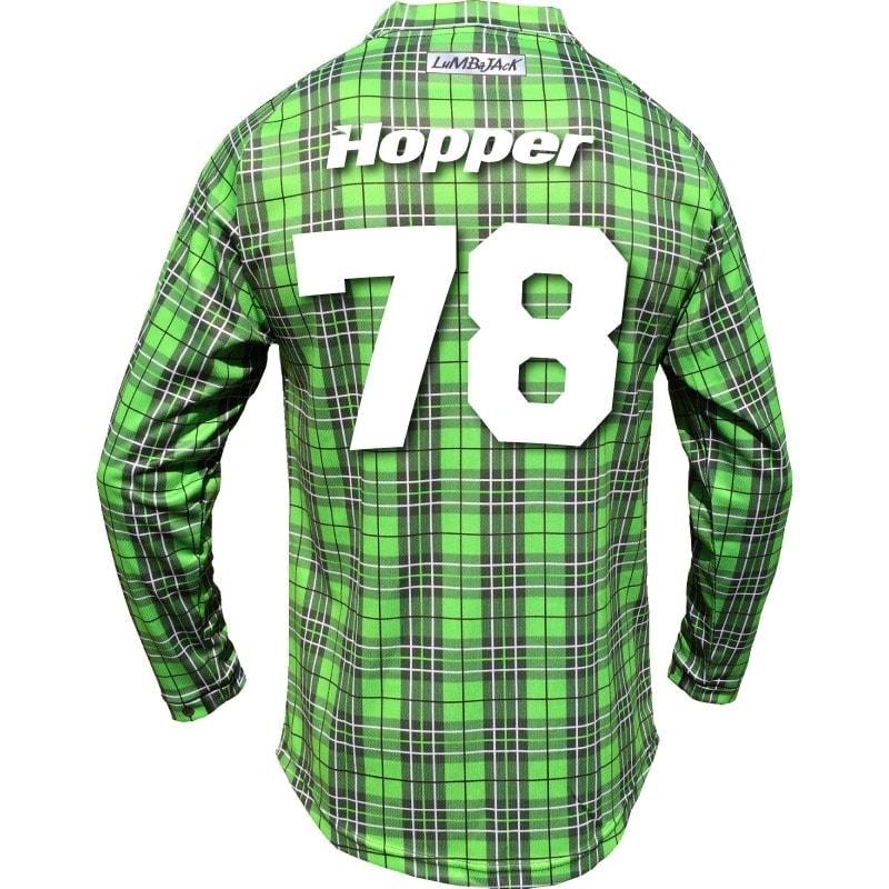 """Custom """"Hopper"""" – LumbaJack Race Jersey Green – LumbaJack Racewear b6eb4aec2"""