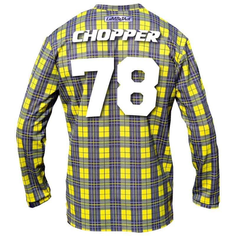 "Custom – ""The Mad Chopper"" – LumbaJack Race Jersey Yellow ... 03fce32a8"